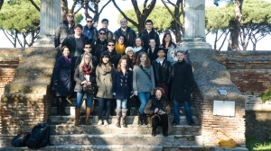 The whole gang in Ostia Antica.