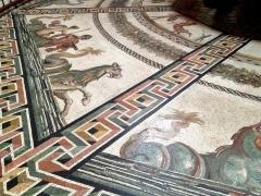 Hand laid mosaic floor